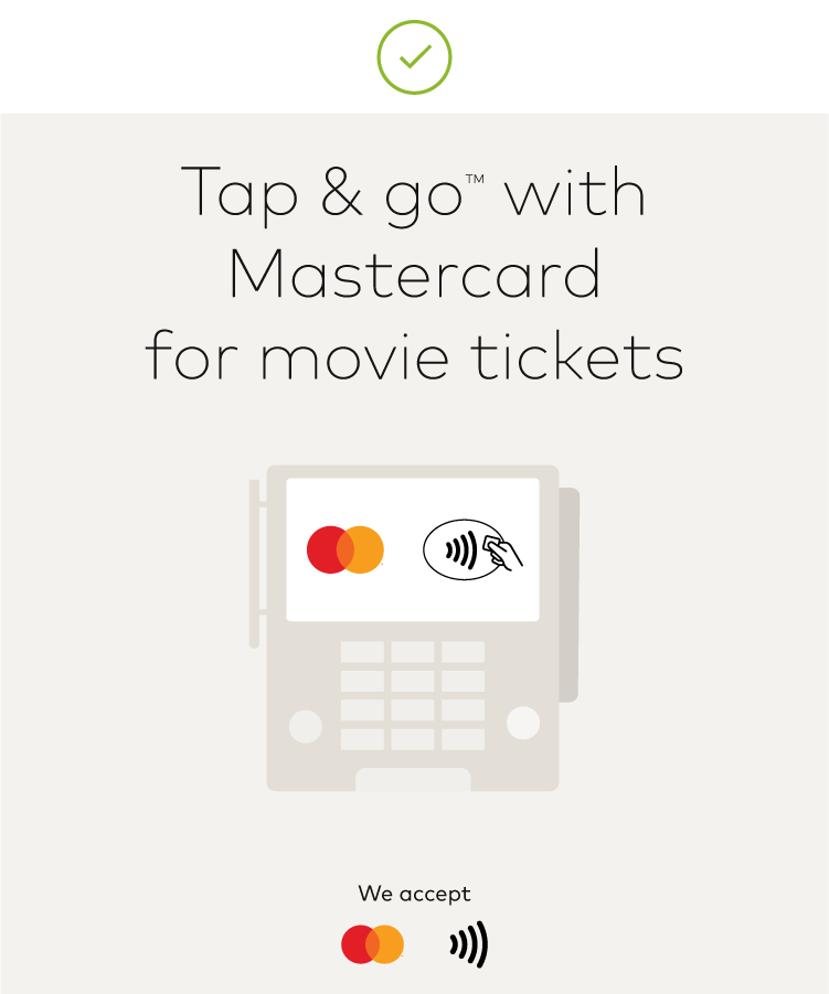 Image of Mastercard contactless in marketing communication