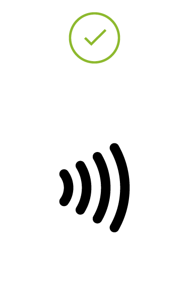 Image of black EMV Contactless Indicator