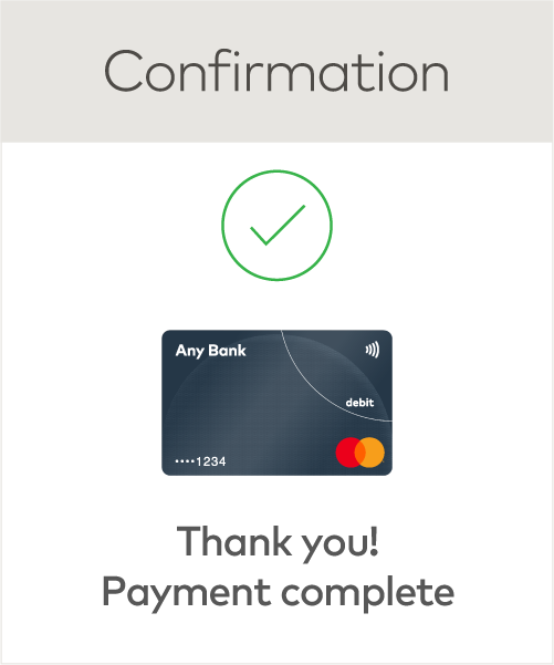 Image of a purchase confirmation notification