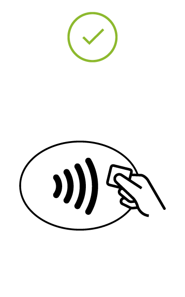 Image of black EMV Contactless Symbol