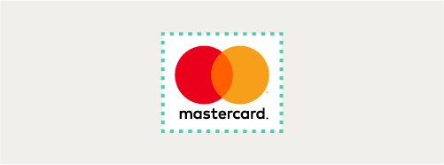 Image of Mastercard vertical configuration clear space