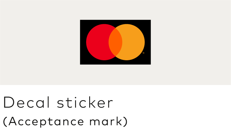 Image of the Mastercard decal sticker