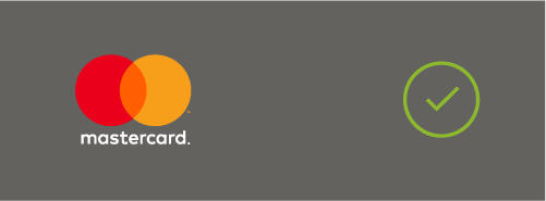 Image of sufficient background contrast for the Mastercard logo