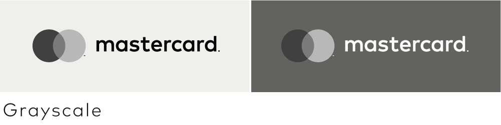 Image of the horizontal Mastercard grayscale version