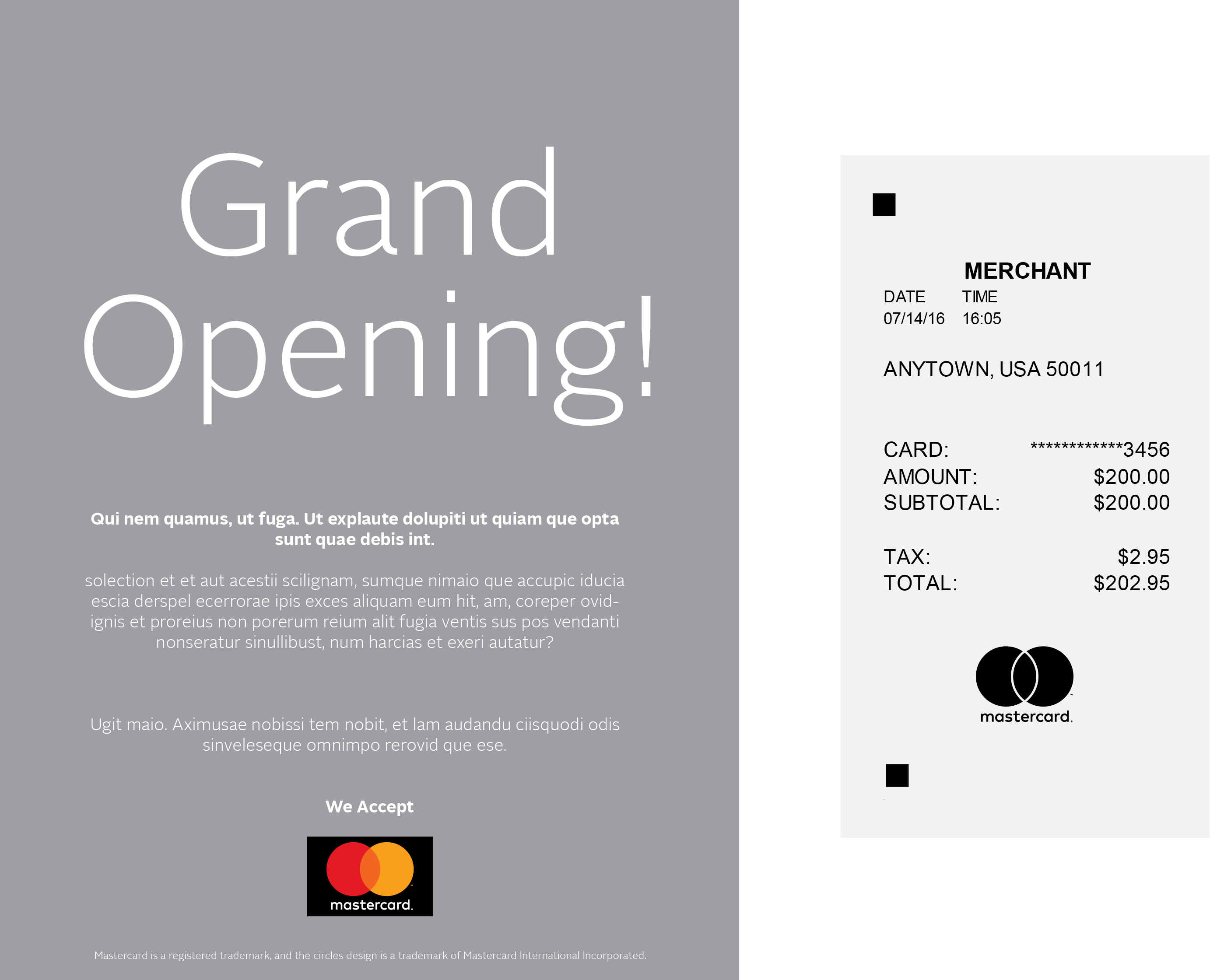 Mastercard brand mark guidelines logo usage rules images of using the full color mastercard logo in merchant advertising and using the one buycottarizona Gallery