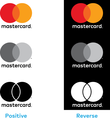 Images of color versions of the vertical Mastercard logo