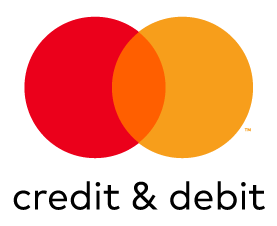 Mastercard Credit & Debit mark for use on white and light backgrounds