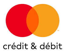 Mastercard Crédit & Débit mark for use on white and light backgrounds