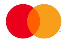 Mastercard Credit & Debit mark for use on black and dark backgrounds