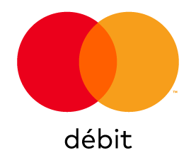 Mastercard Débit mark for use on white and light backgrounds